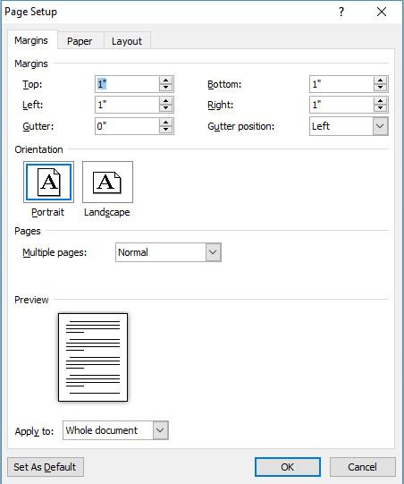 Word margins